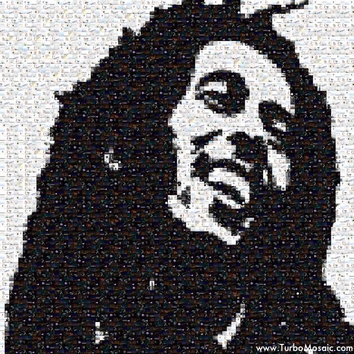 Photo Mosaic of Bob Marley