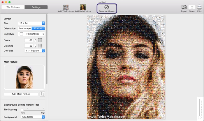 Step 5: Generate photo mosaic