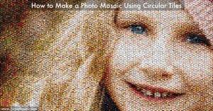 Make a Photo Mosaic Using Circular Tiles