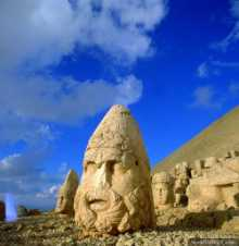 Statues of ancient gods on Mount Nemrut, Adiyaman
