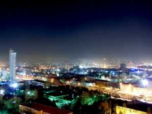 Capital Ankara at night