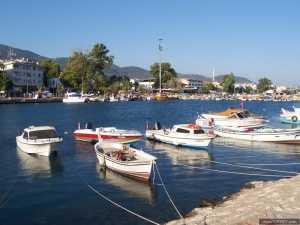 Boats in Altinoluk, Balikesir