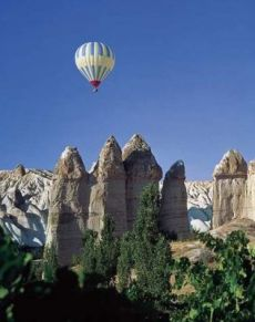 Hot air balllooning is the best way to view the amazing landscape of Cappadocia