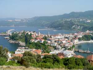 Overview of Amasra, Bartin along the Black Sea