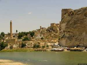 View of the ancient city Hasankeyf, Batman