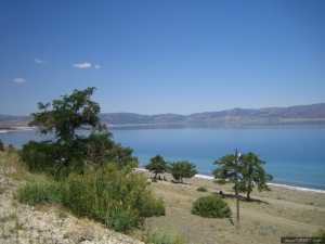 Coastline of Salda Lake in Burdur