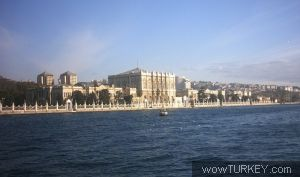 View of Dolmabahce Palace from Bosphorus