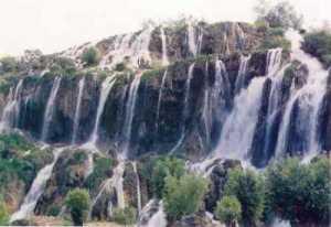 Erzincan Girvelik Waterfalls in summer