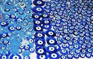 Evil eye pendants are everywhere in Turkey