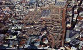 Aerial view of the Grand Bazaar, built in the 15th century