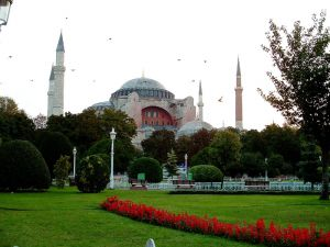 Hagia Sophia from the park in front