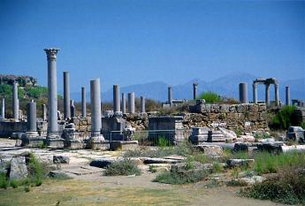 Ancient city of Perge, close to Antalya