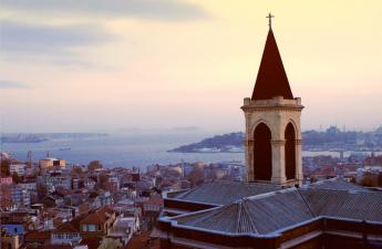 Snapshot of Istanbul from a church top