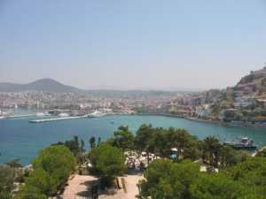 View of Kusadasi from the castle