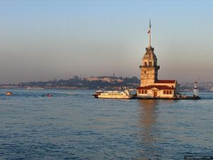 Maiden's Tower (aka Kiz Kulesi or Leander's Tower) is one of the landmarks of Istanbul
