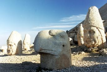 Statues of ancient gods on Mount Nemrut