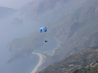 Oludeniz, on top of all, is a paraglider's haven