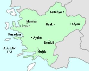 Map of Aegean Region