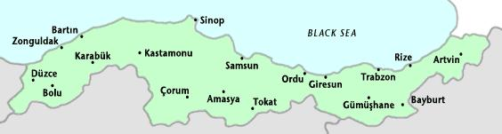 Map of Black Sea Region