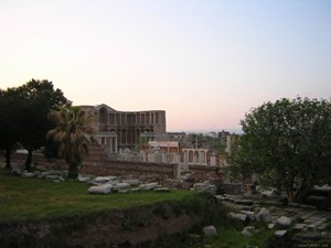 Ruins of the ancient city of Sardis