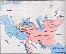 Widest borders of the Seljuks