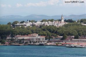 Topkapi Palace from the Bosphorus