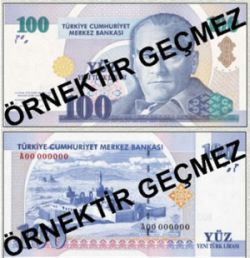 100 Lira is the biggest Turkish banknote
