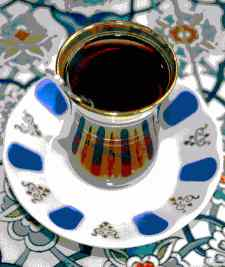 Turkish tea is served in such glasses, called 'ince belli (thin waisted)'