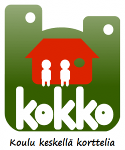 Kokko logo vihreä iso tekstillä