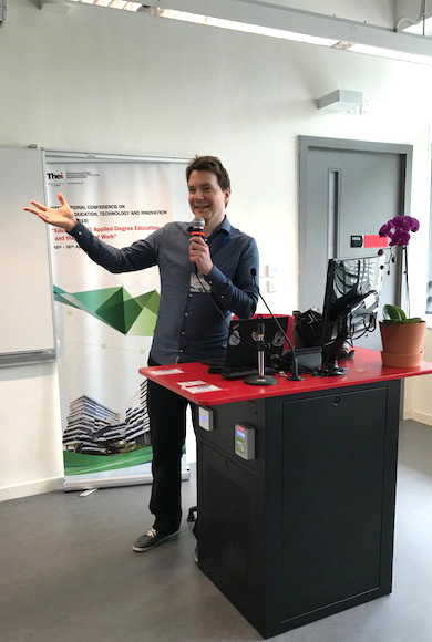 Mr Anttoni Lehto presenting at AETI 2019