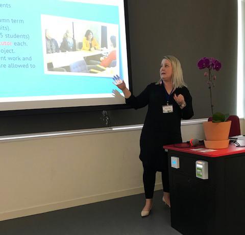 Ms Meiju Keinänen presenting at AETI 2019