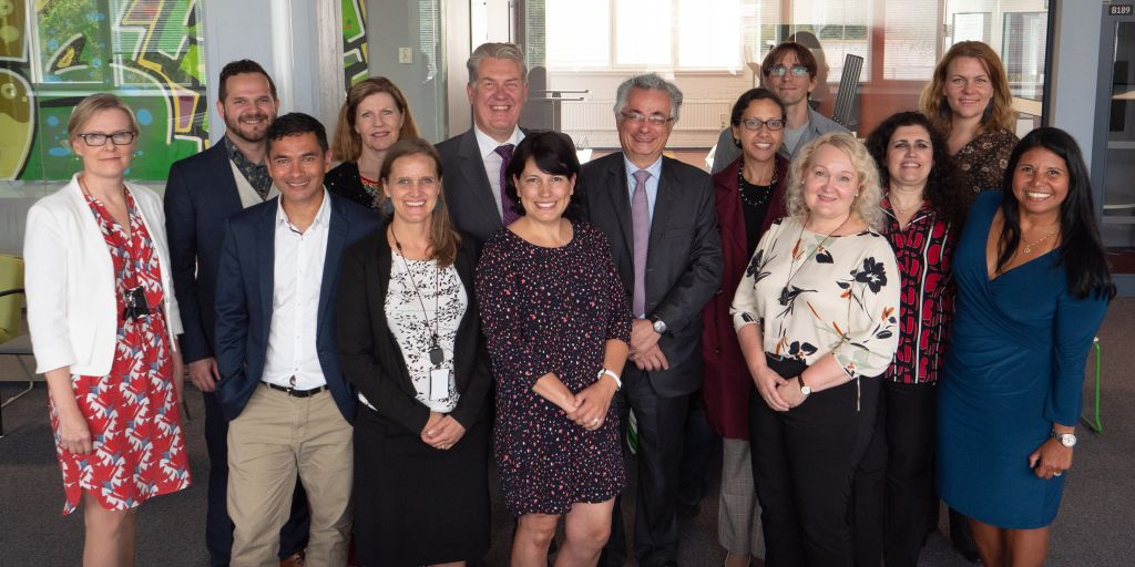 Group photo with TUAS crew and delegation from the Embassy of Brazil in Helsinki and CCBF