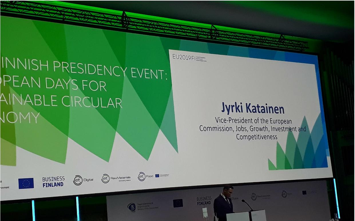 Jyrki Katainen at EDSCE confrence