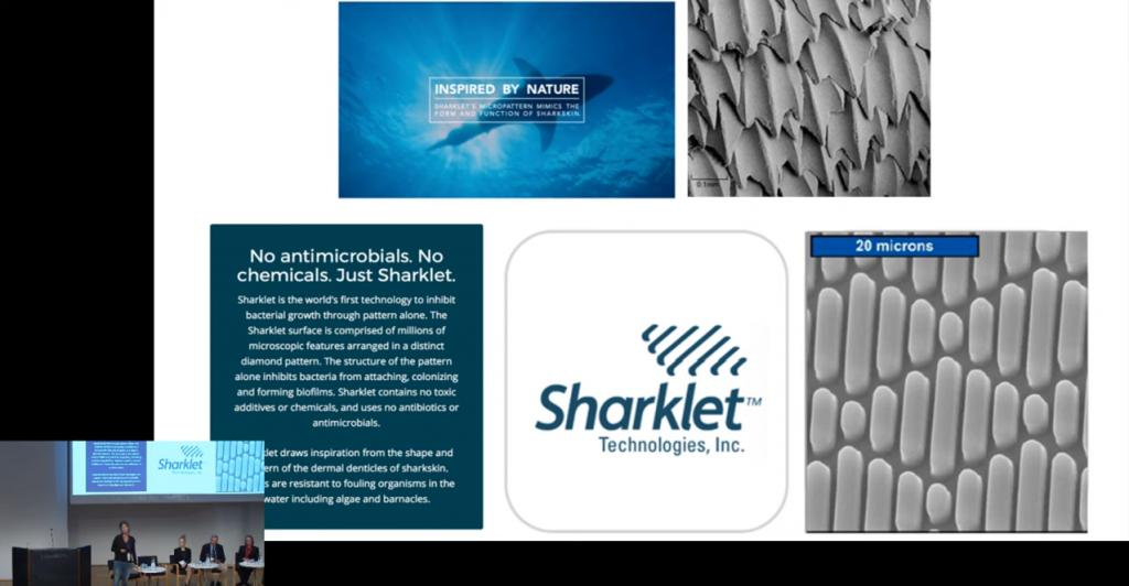 Sharklet-yrityksen esitys EDSCE-konferenssissa