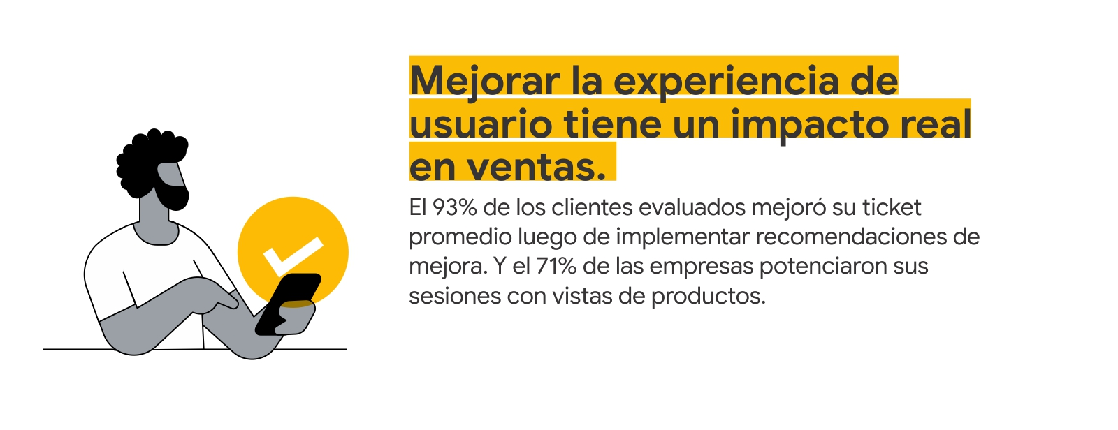Mejorar la experiencia de usuario tiene un impacto real en ventas.