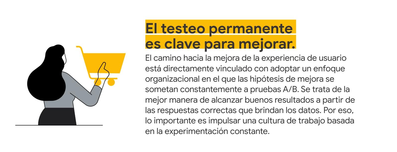 El testeo permanente es clave para mejorar.