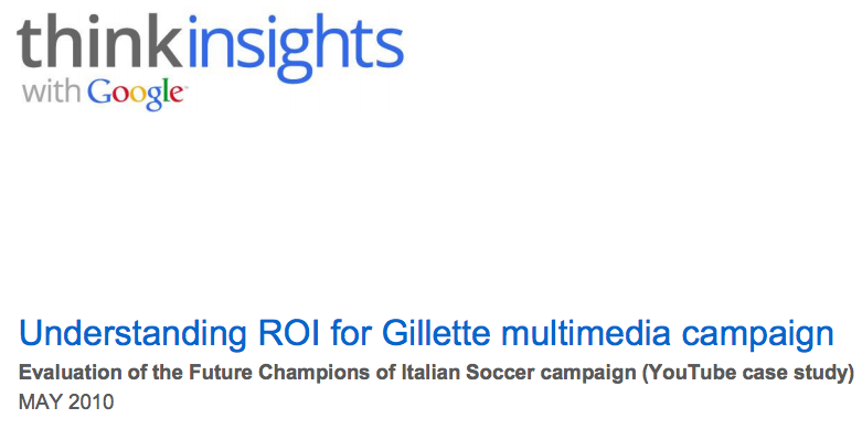 Understanding the ROI of Gillette's Multimedia Campaign