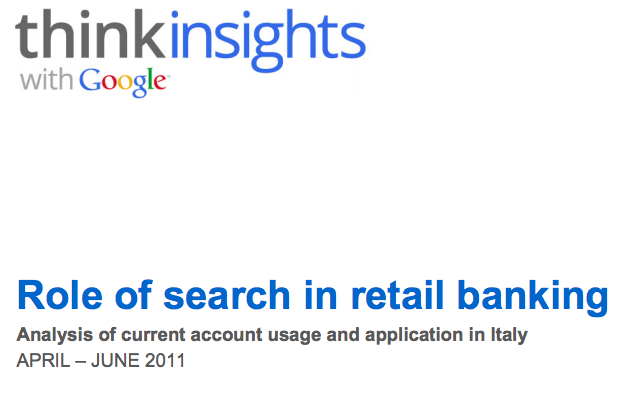 Role of Search in Retail Banking