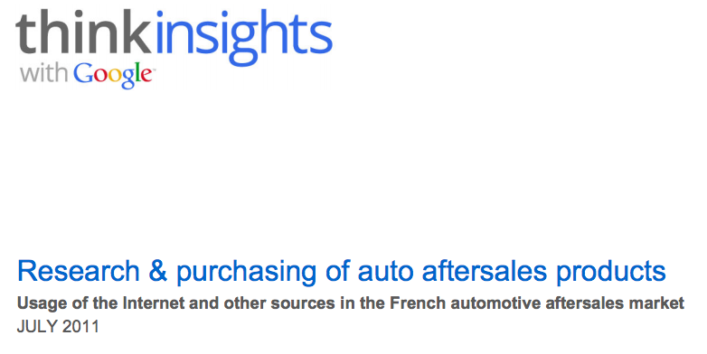 Research & Purchase of Automotive Aftersales Products