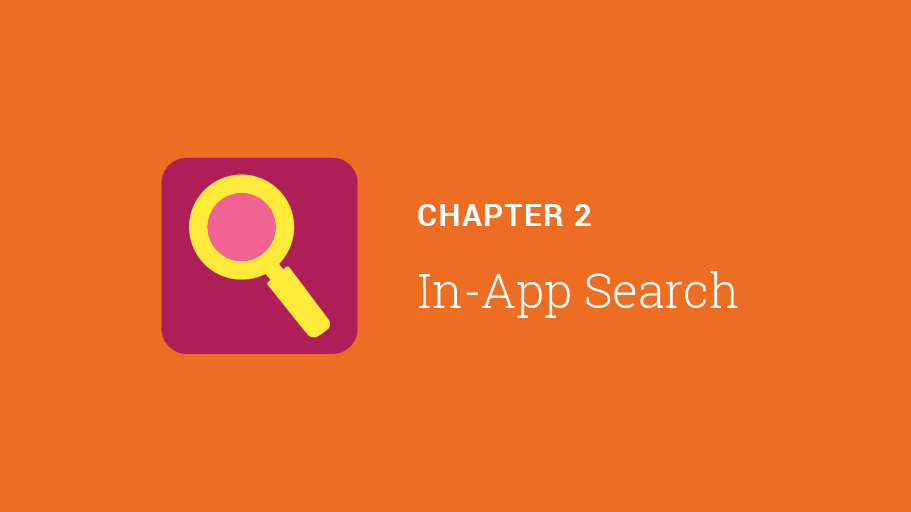 Chapter 2: In-App Search
