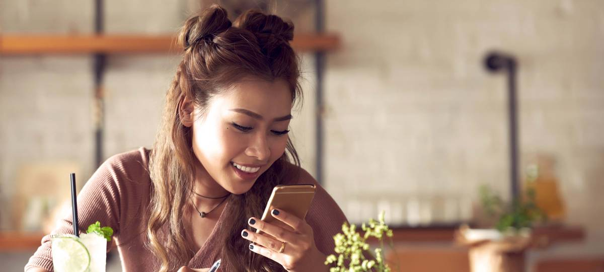 The surprising thing about mobile apps woman with phone