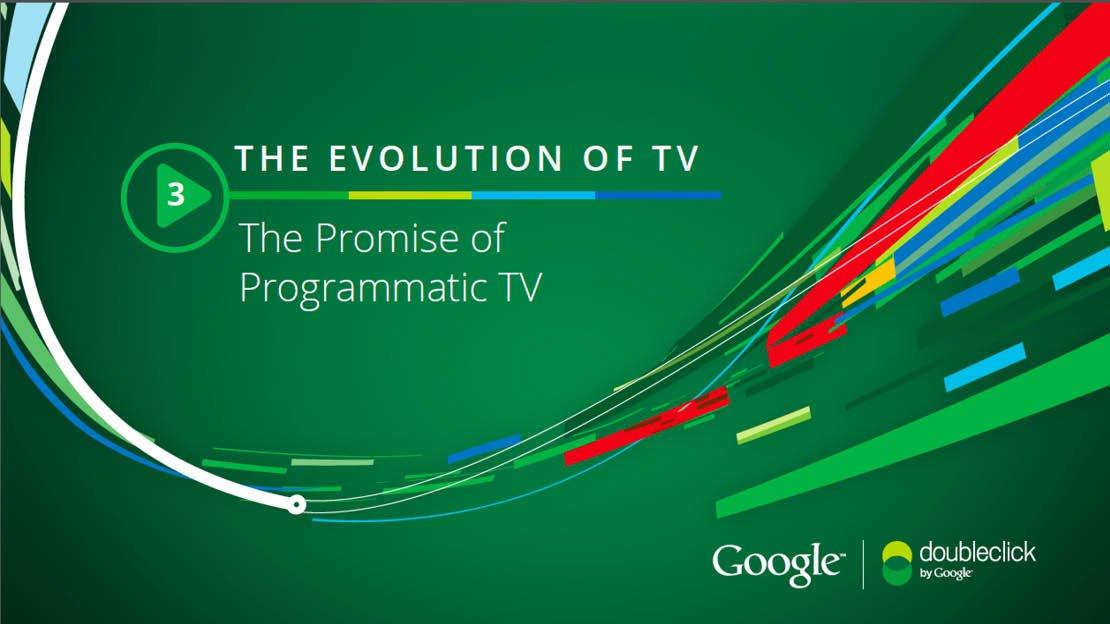 Evolution of programmatic tv