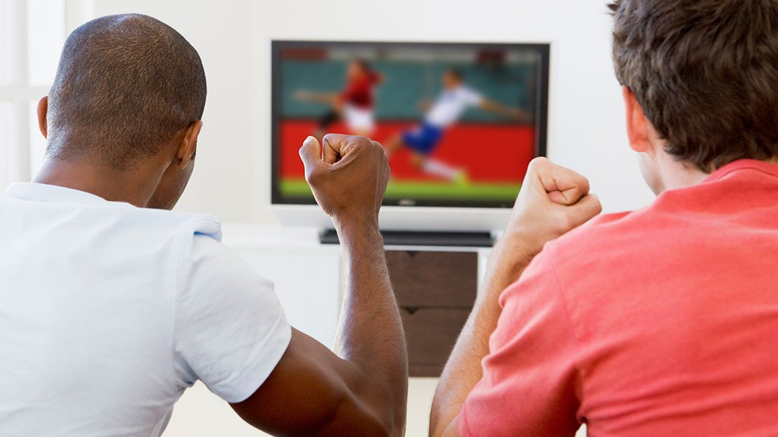 What Black female watching football are not
