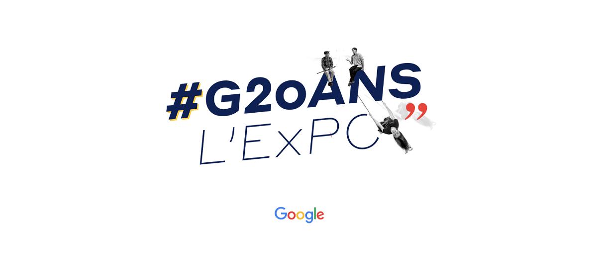 Logo Google de l'exposition G20ANS