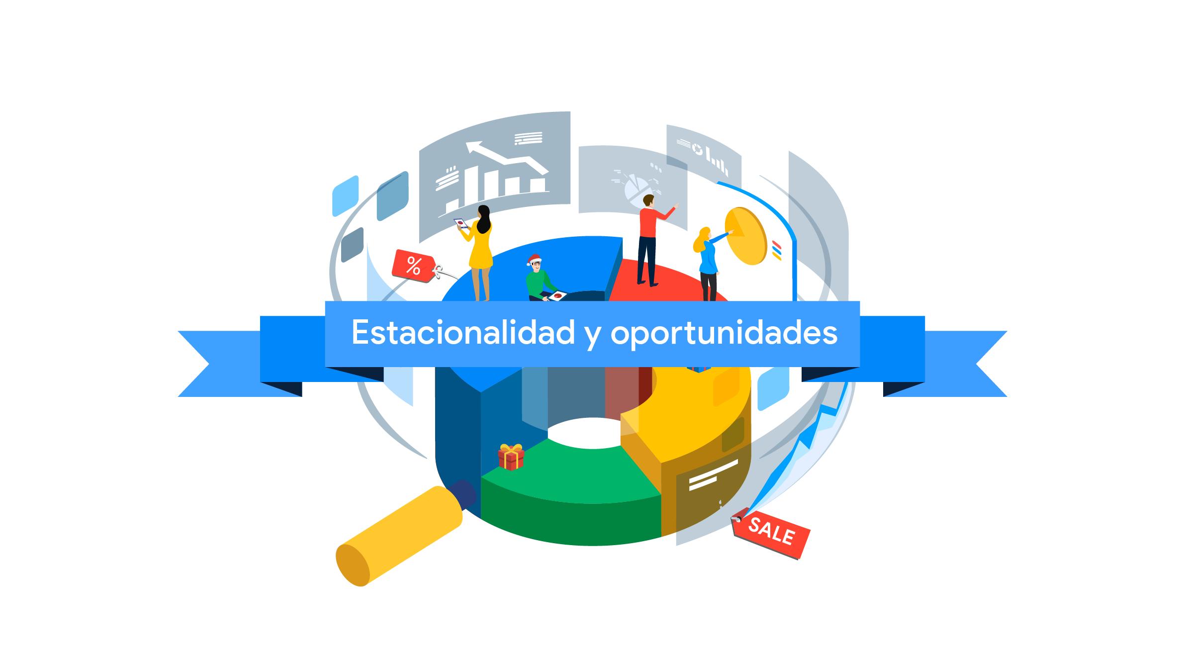 carrusel de personas sobre el logo de google, indicando interacción con pantallas
