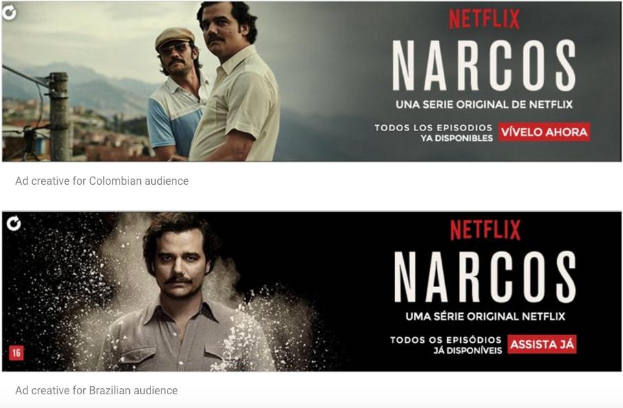 Netflix Double Click Narcos ad