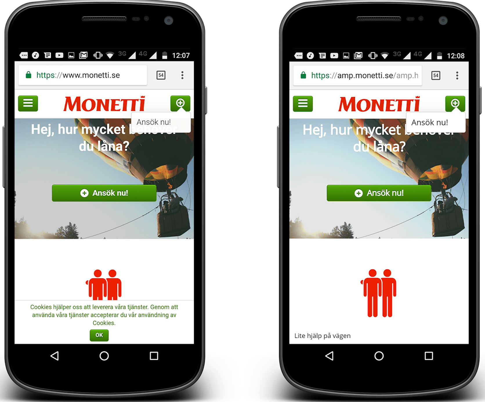 AMPs help Monetti cut page load time by 84%, grow AdWords conversions by 19% img1
