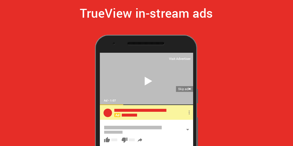 YouTube in-stream ad