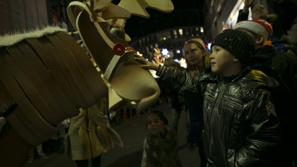 Kerstparade in Lelystad
