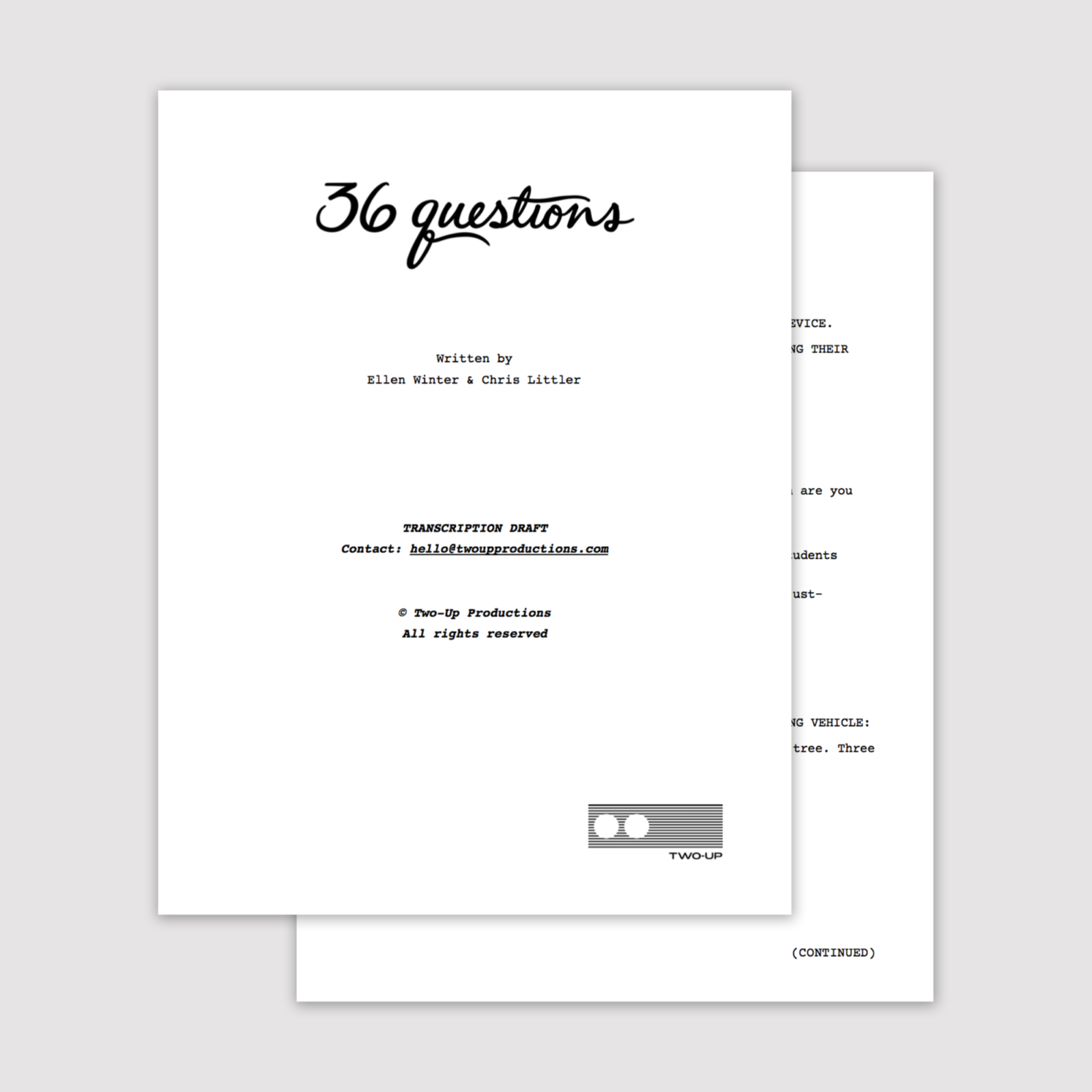 36 Questions Transcription website